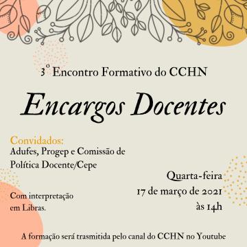 3º Encontro Formativo do CCHN